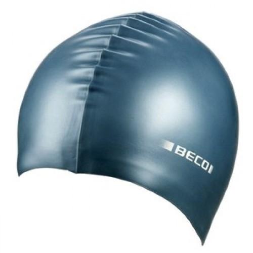 Шапочка д/плав BECO 7397 11 силікон металік срібн