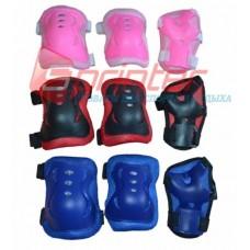 Захист для роликів ProtectionSport (комп., синій,червоний,рожевий)