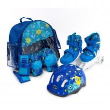 Набір роликів SMJ COMBO MONSTER  2IN1 ( роликові ковзани + шолом + захист + сумка)