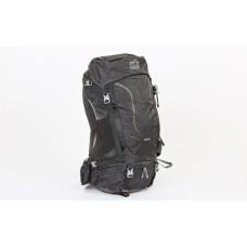 Рюкзак туристичний із каркасною спинкою COLOR LIFE 50 літрів (чорний)