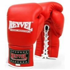Рукавиці бокс Reyvel шкір червон на шнурівку 12OZ