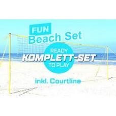 Набір для пляжного волейболу FUNTEC стійки + сітка + рядки, 02311
