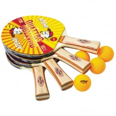 Набір для настільного тенісу ATEMI Quattro (4 ракетки + 4 м'ячі)