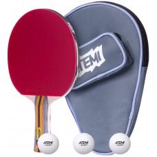Набір для настільного тенісу ATEMI Sniper (1ракетка + чохол + 3 м'ячі ***)