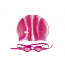 Окуляри для плавання + шапочка Spurt SIL 20 AF