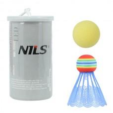 Набір воланчиків для спідмінтону (бадмінтону) Nils NBL6092