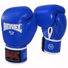Рукавиці боксерські Reyvel (шкіра, сині) 10OZ