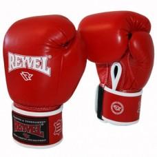 Рукавиці боксерські Reyvel (шкіра, червоні) 10OZ