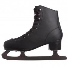 Ковзани для фігурного катання чорні PVC Z-4463