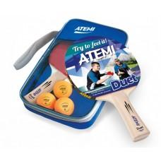 Набір для настільного тенісу Atemi Duet (чохол+2ракетки +3 мячики 1*)