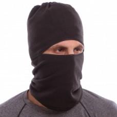 Балаклава, шапка, шарф 3 в 1 MS-5627 (фліс, чорний)