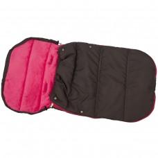 Спальник для санок ENERO 90*45см темно сірий з рожевим