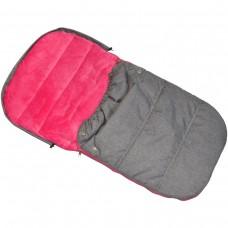 Спальник для санок ENERO 90*45см сірий з рожевим