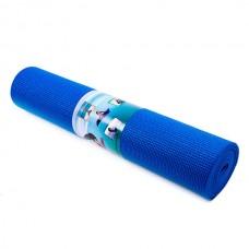 Килимок  для йоги Green CampPVC 4mm синій173 x 61cm
