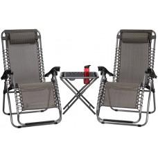Набір крісел садових Abbey Camp® Patio (2 крісла, столик) 21DT