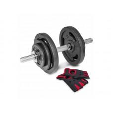 Гантелі металічні Hop-Sport Strong 2 х 10кг