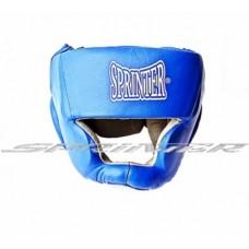 """Шолом закритий боксерський """"SPRINTER"""" з натуральної шкіри і замша 606-608"""