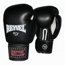 Рукавиці боксерські Reyvel (шкіра, чорні) 10OZ