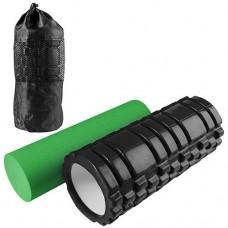 Масажний ролик, йога 2в1,(33 х 14 см, 33 х 9.5см, пластик, EVA) 84032
