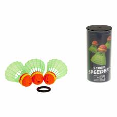 Набір воланів для спідмінтону Speedminton Tube Crosspack (3 шт)