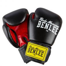 Рукавиці боксерські  Benlee FIGHTER 12oz (шкіра, чорно-червоні)
