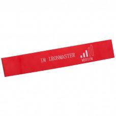Еспандер гімнастичний латексна стрічка IronMaster (600х50х0,95 мм, червона)