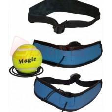 Тренажер-еспандер для боксу з м'ячиком (шкіра) Fight ball 18085
